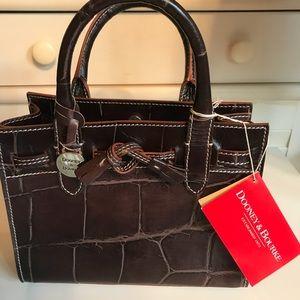 NEW Dooney & Bourke  Mini Tassel Bag in Brown